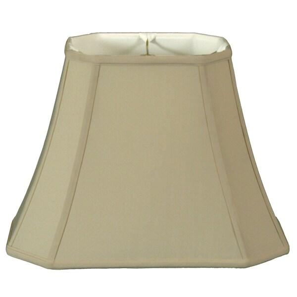Royal Designs Rectangle Cut Corner Lamp Shade, Beige