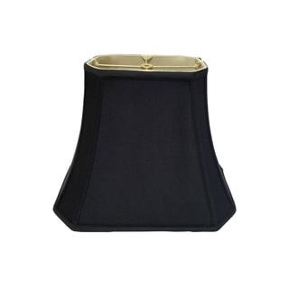 Royal Designs Rectangle Cut Corner Lamp Shade, Black, 4 x 6 x 7 x 10 x 8.25