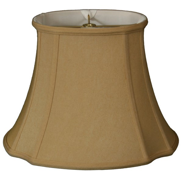 Royal Designs Oval Inverted Corner Lamp Shade, Antique Gold, 11 x 9 x 19 x 16.5 x 13