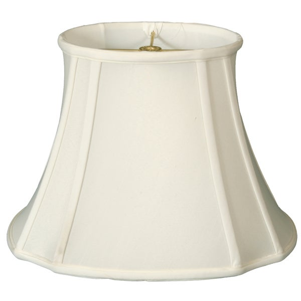 Royal Designs Oval Inverted Corner Lamp Shade, White, 7 x 9 x 12.75 x 15 x 10.75