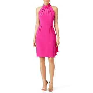 Carmen Marc Valvo Fuschia Dress