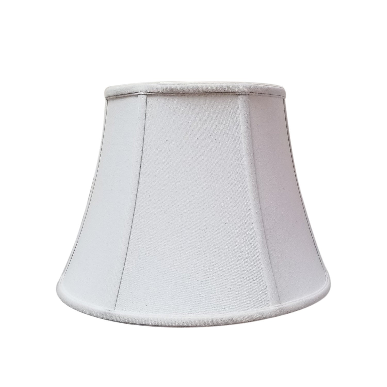 Royal Designs Modified Bell Linen White Lamp Shade 11 X 18 X 13 5 Overstock 14801409