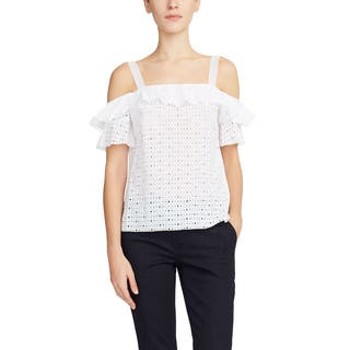 Elie Tahari White Harley Blouse|https://ak1.ostkcdn.com/images/products/14801421/P21320558.jpg?impolicy=medium