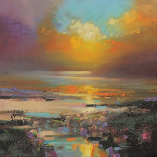 'Rainbow Colors' by Scott Naismith Gel Brush Finished Gallery-Wrapped Canvas Wall Art, Ready to Hang