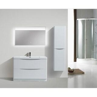 Moreno Smile Modern Acrylic Sink 2-Drawer 48-inch Single Bathroom Vanity