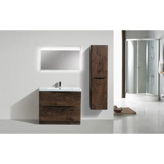 Moreno Smile Modern Acrylic Sink 2-Drawer 40-inch Single Bathroom Vanity (2 options available)
