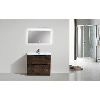 Moreno Smile Modern Acrylic Sink 2-Drawer 36-inch Single Bathroom Vanity