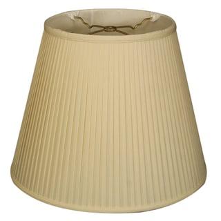 Royal Designs Empire Side Pleat Basic Lamp Shade, Eggshell, 10 x 16 x 12.5