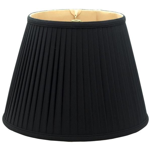 Royal Designs Empire Side Pleat Basic Lamp Shade, Black/Gold 9 x 14 x 10.5