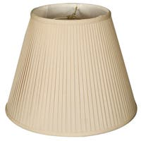 Royal Designs Deep Empire Side Pleat Basic Lamp Shade, Beige, 9 x 18 x 14