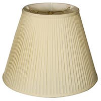 Royal Designs Deep Empire Side Pleat Basic Lamp Shade, Eggshell, 8 x 14 x 11