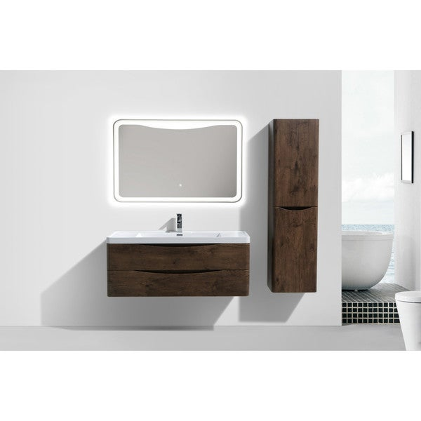 Moreno Bath Smile 48 Inch Wall Mounted Modern Bathroom Vanity With Reinforced Acrylic Sink