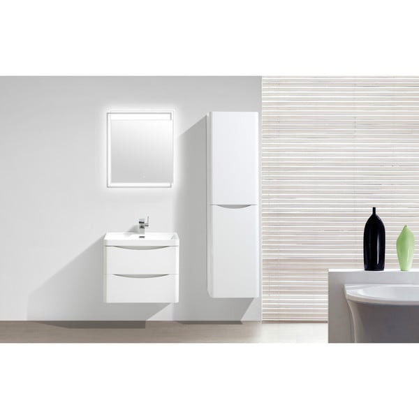 moreno smile 24inch wallmounted moder bathroom vanity with acrylic sink