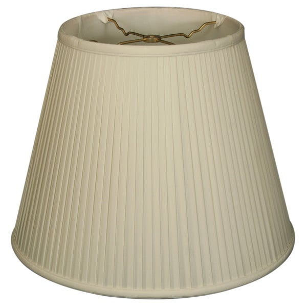 Royal Designs Empire Side Pleat Basic Lamp Shade, White, 12 x 20 x 15