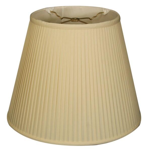 Royal Designs Empire Side Pleat Basic Lamp Shade, Eggshell, 11 x 18 x 13.5