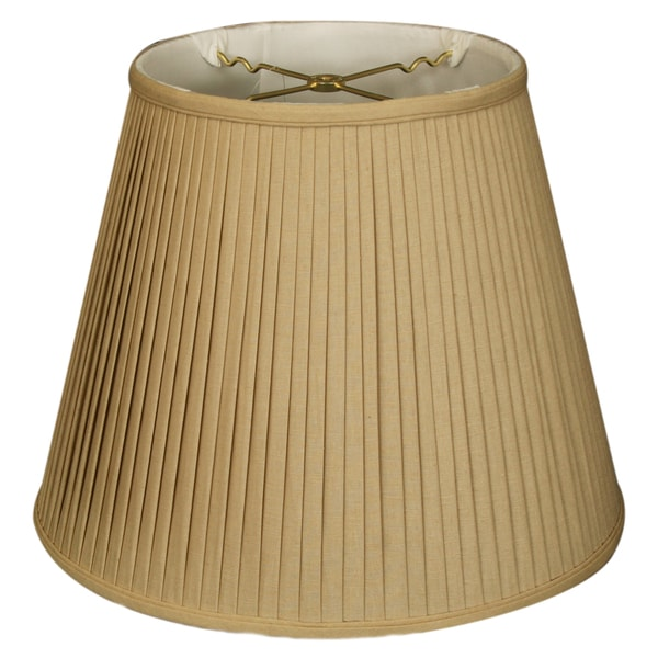 Royal Designs Empire Side Pleat Basic Lamp Shade, Linen / Taupe 10 x 16 x 12.5