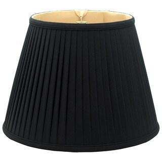 Royal Designs Empire Side Pleat Basic Lamp Shade, Black/Gold 10 x 16 x 12.5