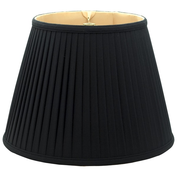 Royal Designs Empire Side Pleat Basic Lamp Shade, Black/Gold 10 x 16 x 12.5