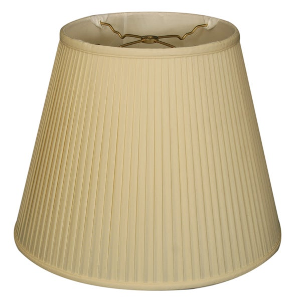 Royal Designs Empire Side Pleat Basic Lamp Shade, Eggshell, 9 x 14 x 10.5