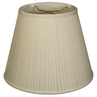 Royal Designs Empire Side Pleat Basic Lamp Shade, White, 7.5 x 12 x 9.5