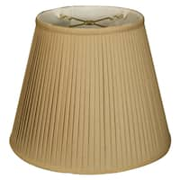 Royal Designs Empire Side Pleat Basic Lamp Shade, Linen / Taupe 7.5 x 12 x 9.5