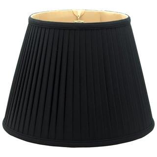 Royal Designs Empire Side Pleat Basic Lamp Shade, Black/Gold 7.5 x 12 x 9.5