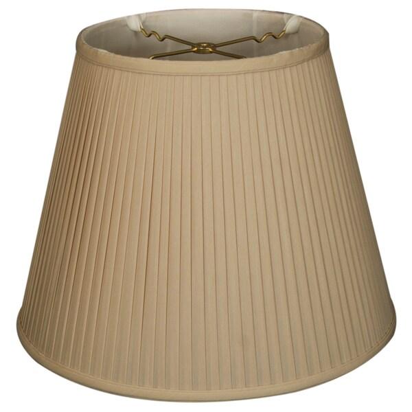 Royal Designs Empire Side Pleat Basic Lamp Shade, Beige, 7.5 x 12 x 9.5