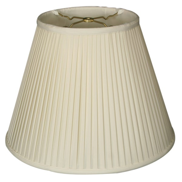 Royal Designs Deep Empire Side Pleat Basic Lamp Shade, White, 10 x 20 x 15