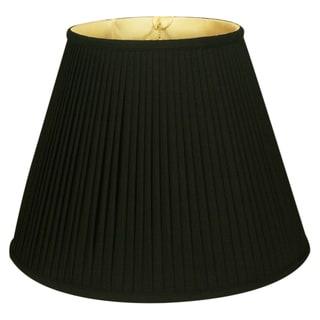 Royal Designs Deep Empire Side Pleat Basic Lamp Shade, Black/Gold 9 x 18 x 14