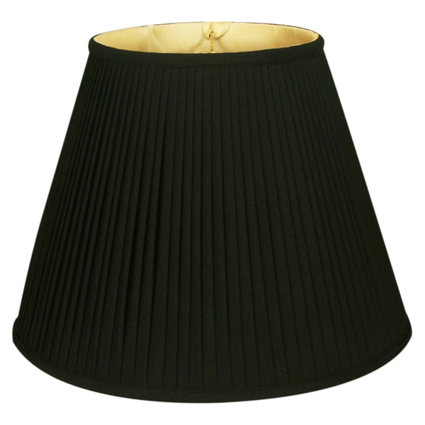 Royal Designs Deep Empire Side Pleat Basic Lamp Shade, Black/Gold 9 x 18 x 14