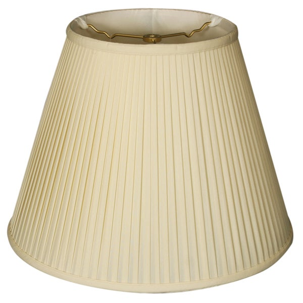 Royal Designs Deep Empire Side Pleat Basic Lamp Shade, Eggshell, 6 x 12 x 9.25