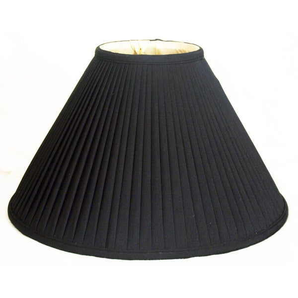 Royal Designs Coolie Empire Side Pleat Basic Lamp Shade, Black/Gold 5 x 13 x 8