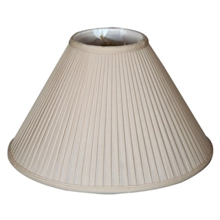 Royal Designs Coolie Empire Side Pleat Basic Lamp Shade, Beige, 5 x 13 x 8