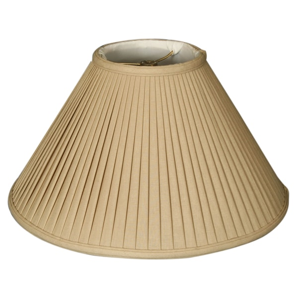 Royal Designs Coolie Empire Side Pleat Basic Lamp Shade, Linen / Taupe 7 x 20 x 12.5