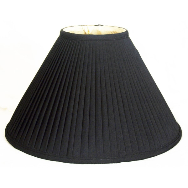 Royal Designs Coolie Empire Side Pleat Basic Lamp Shade, Black/Gold 7 x 20 x 12.5