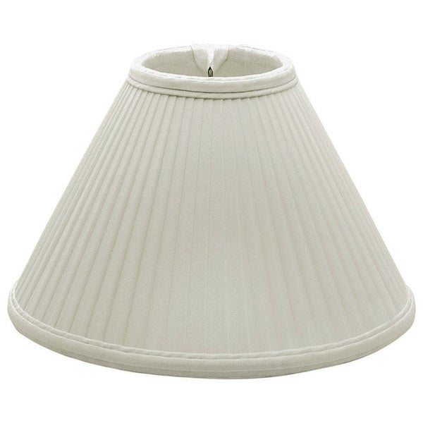 Royal Designs Coolie Empire Side Pleat Basic Lamp Shade, White, 6 x 18 x 11.5