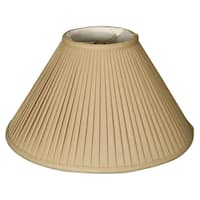 Royal Designs Coolie Empire Side Pleat Basic Lamp Shade, Linen / Taupe 6 x 18 x 11.5