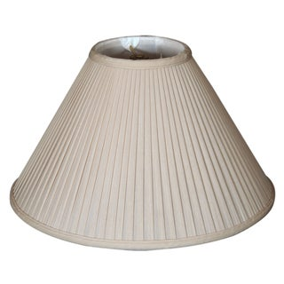 Royal Designs Coolie Empire Side Pleat Basic Lamp Shade, Beige, 6 x 16 x 10