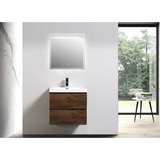 Moreno Mob 24-inch Wall Mounted Modern Bathroom Vanity with Reinforced Acrylic Sink