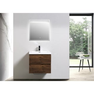 Moreno Mob 24-inch Wall Mounted Modern Bathroom Vanity with Reinforced Acrylic Sink