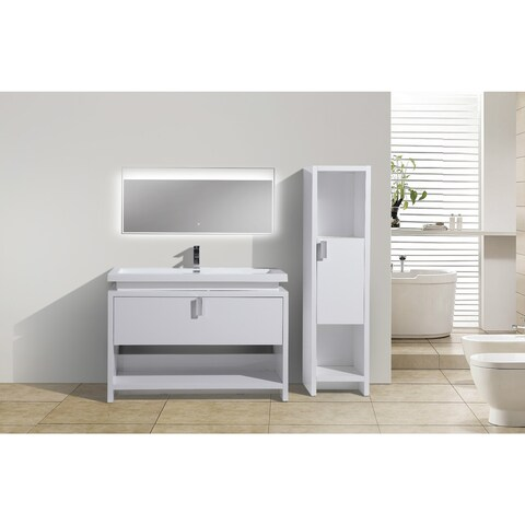 Moreno Bath MOL 48 Inch Free Standing Modern Bathroom Vanity With Reinforced Acrylic Sink