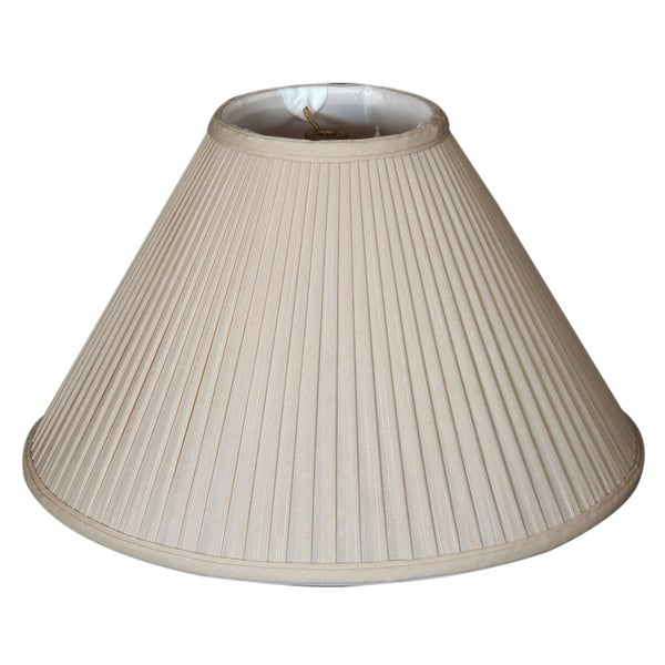 Royal Designs Coolie Empire Side Pleat Basic Lamp Shade, Beige, 5 x 14 x 9.5