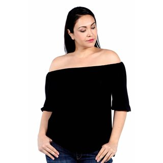 24/7 Comfort Apparel Sweetheart Off Shoulder Plus Size  Tunic Top