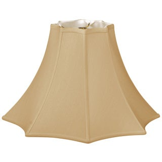 Royal Designs 8 Sided Top Bottom Bell Basic Lamp Shade, Antique Gold, 5 x 14 x 9.5