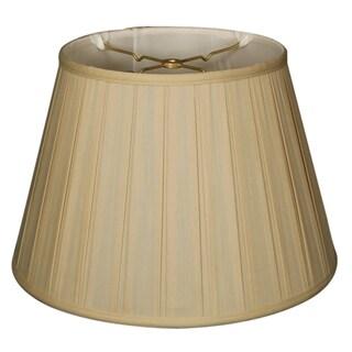 Royal Designs Empire English Pleat Basic Lamp Shade, Beige, 8 x 12.5 x 7.5