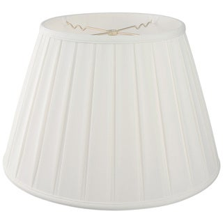Royal Designs Empire English Pleat Basic Lamp Shade, White, 12.5 x 20 x 13.5