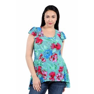24/7 Comfort Apparel Tropical Paradise Plus Size Tunic Top
