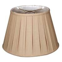 Royal Designs Empire English Pleat Basic Lamp Shade, Linen Beige, 12.5 x 20 x 13.5