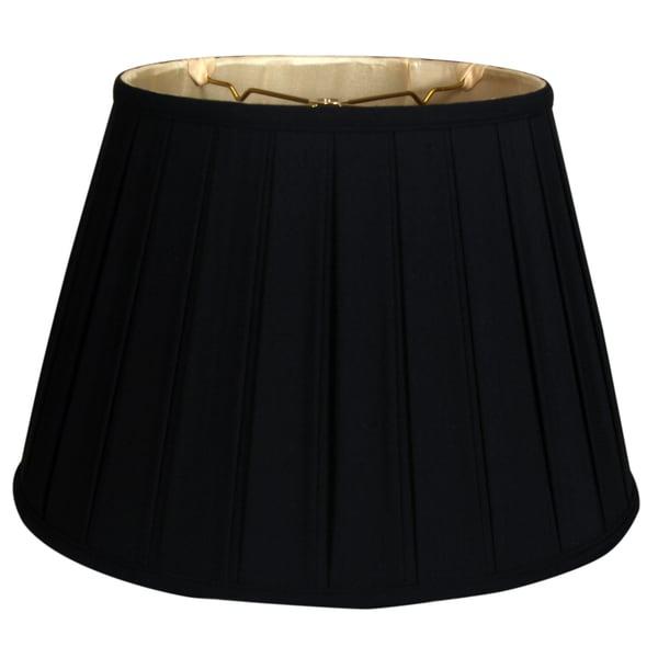 Royal Designs Empire English Pleat Basic Lamp Shade, Black/Gold 12.5 x 20 x 13.5