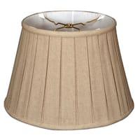 Royal Designs Empire English Pleat Basic Lamp Shade, Linen Cream, 12.5 x 20 x 13.5
